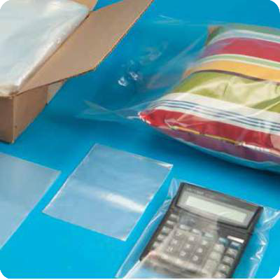 Plastic stretch film bags for product packaging