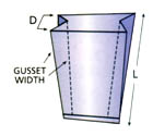 measuring for gusseted bags 1
