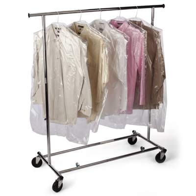 Hook handle plastic garment bags