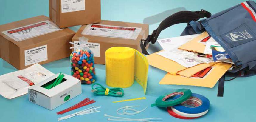 Plastic packaging, mailers, and ties
