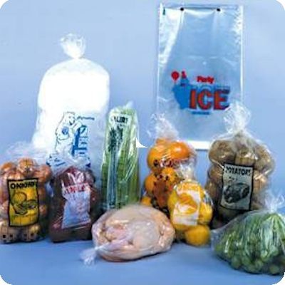 Produce poly bag packaging