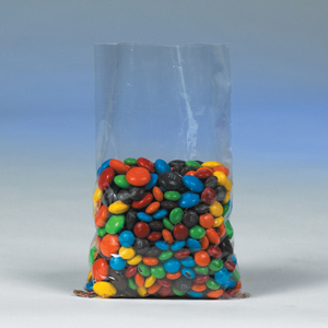 Plastic flat bags for food products